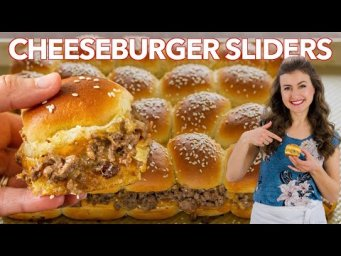CHEESEBURGER SLIDERS (Hawaiian Roll Sliders Recipe)