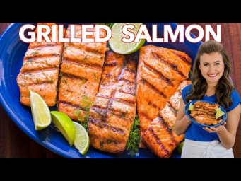 HOW TO GRILL SALMON with Garlic Lime Butter
