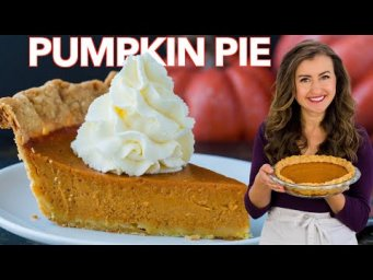 The BEST PUMPKIN PIE RECIPE I've Ever Made | Thanksgiving Dessert