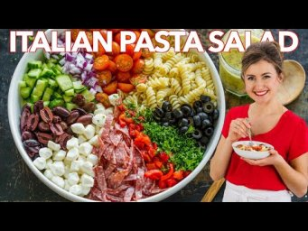 How To Make Italian PASTA SALAD with Homemade ITALIAN DRESSING