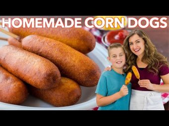 How To Make CORN DOGS | Honey Corn Dog Recipe