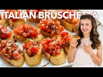 How to Make Italian BRUSCHETTA - Easy Appetizer